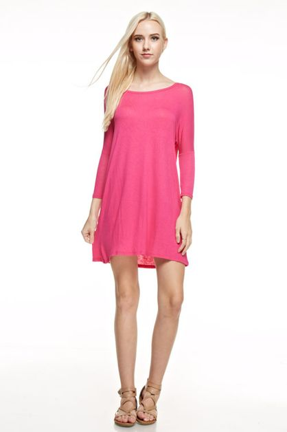 DROPPED SHOULDER DRESS - orangeshine.com