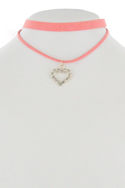 Heart 2-pc Choker Set - orangeshine.com