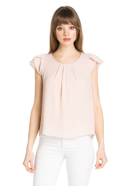 SHORT SLEEVE CUTE TOP - orangeshine.com