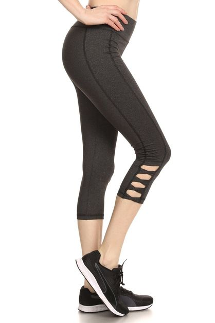 Cutouts Sport Leggings Capri yoga - orangeshine.com