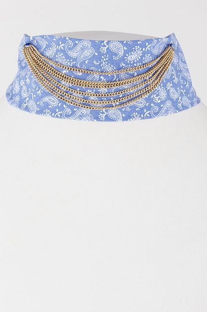 Bandana Choker Necklace - orangeshine.com