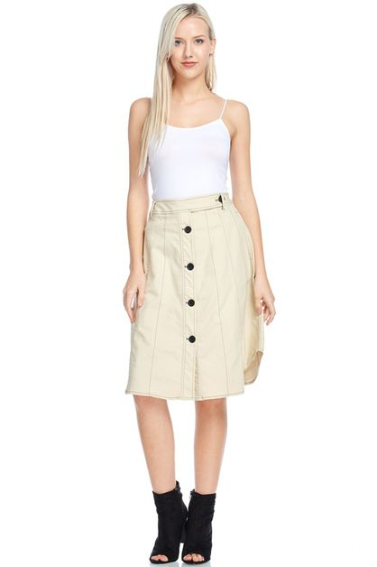 Button Me Up Skirt - orangeshine.com