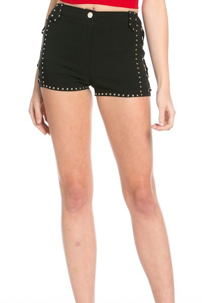 STUD DETAIL SHORTS - orangeshine.com