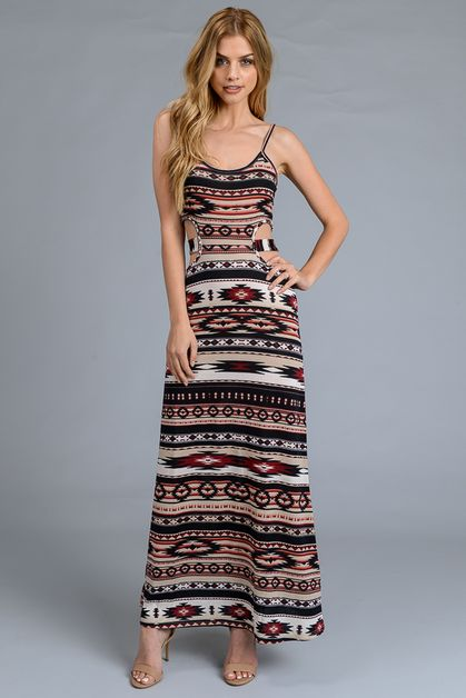 MAXI DRESS OPEN SIDE - orangeshine.com