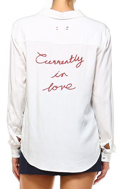 CURRENTLY IN LOVE EMBROIDERED TOP - orangeshine.com