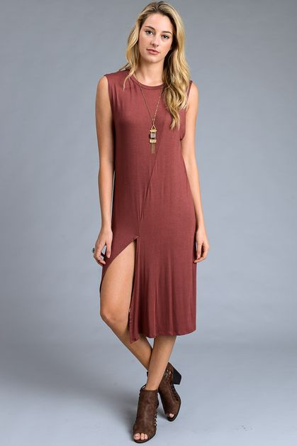 Open Side Midi Dress - orangeshine.com
