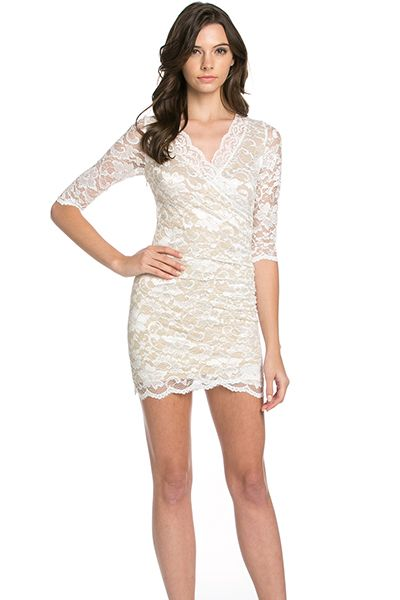 3/4 SLEEVE LACE DRESS - orangeshine.com