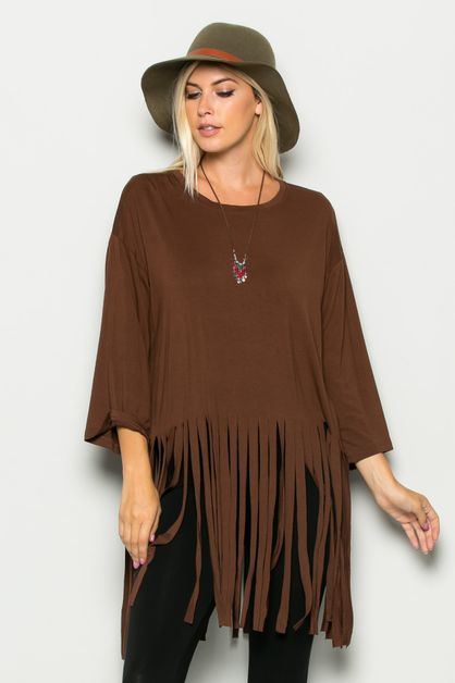 FRINGED TUNIC TOP - orangeshine.com