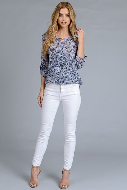 BASIC TOP FLOWER PRINT - orangeshine.com