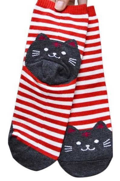 Cat face socks - orangeshine.com
