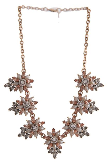 SHINY FLOWER NECKLACE SET - orangeshine.com