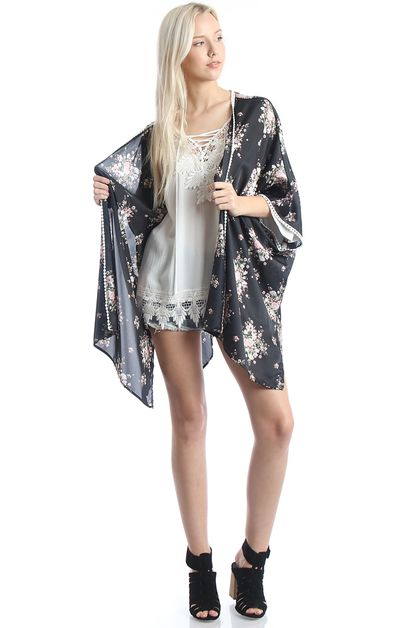 Women`s Floral Light Weight Kimono  - orangeshine.com