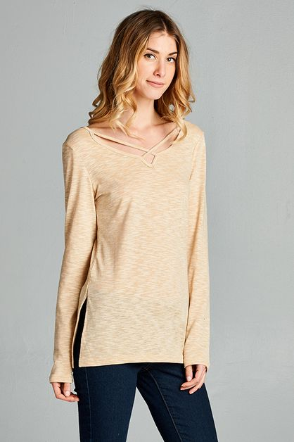 Criss Cross Basic Top - orangeshine.com