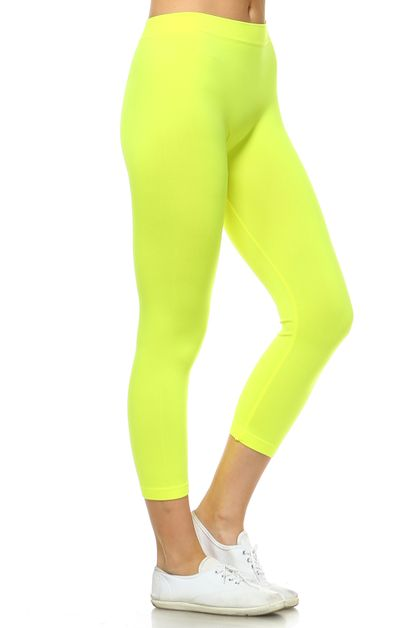 SEAMLESS CAPRI LEGGINGS - orangeshine.com
