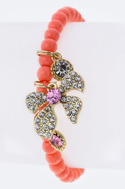 Crystal Stretch Bead Bracet - orangeshine.com
