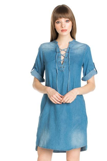 DENIM DRESS - orangeshine.com