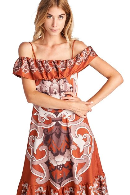 Cold Shoulder Dress - orangeshine.com