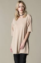 FRENCH TERRY SHORT SLEEVE DRESS WITH - orangeshine.com