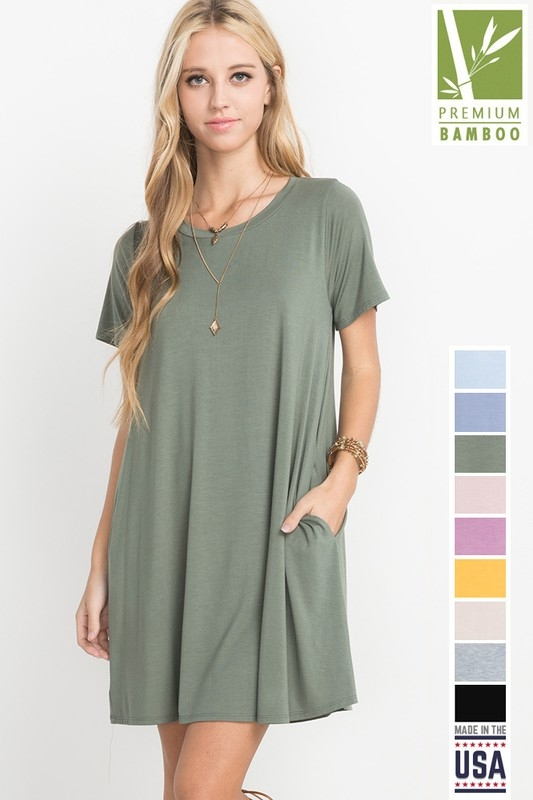Mitto shop wholesale bamboo fabric t shirt pocket dress for Bamboo fiber t shirt