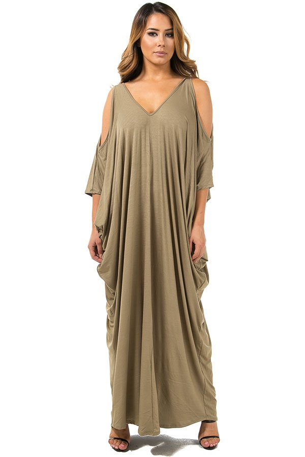 Maxi Cocoon Dress - orangeshine.com