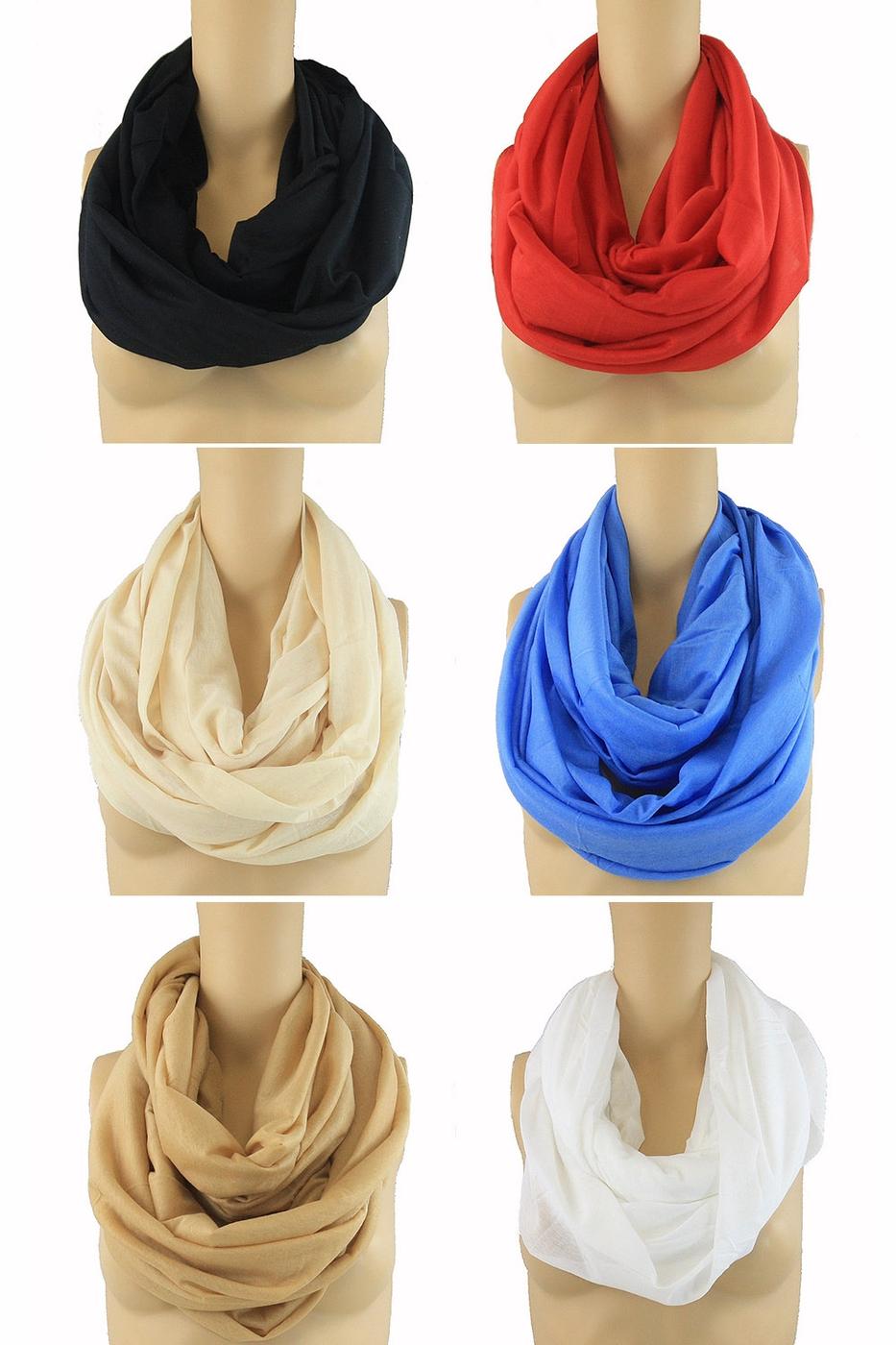 funteze wholesale solid infinity scarf orangeshine