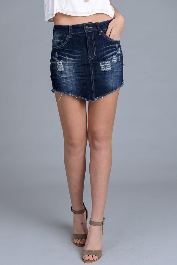 I LOVE S&S Wholesale Raw Edge Mini Skirt