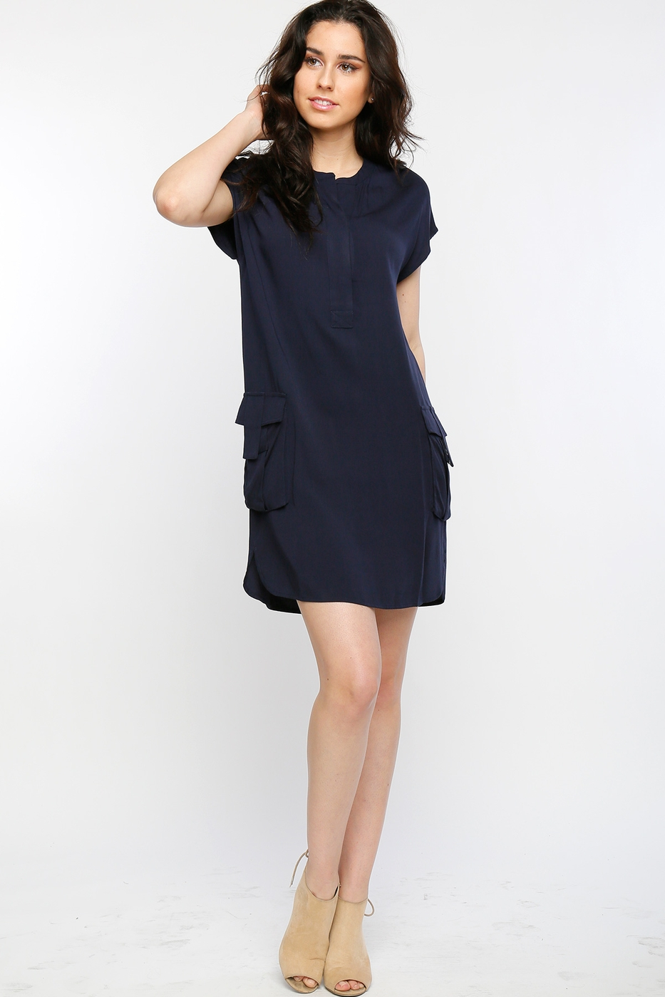 Cap sleeve dress - orangeshine.com