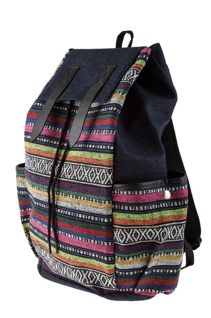 Embo Bohemian denim backpack - orangeshine.com