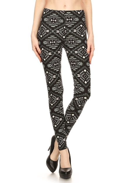 TRIBAL PRINTED LEGGINGS - orangeshine.com