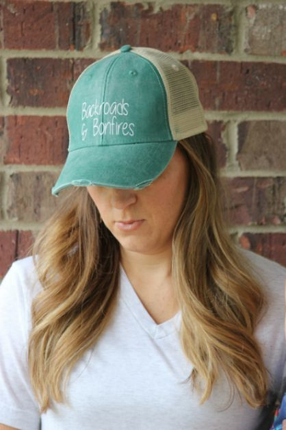 BACKROADS AND BONFIRES HAT - orangeshine.com