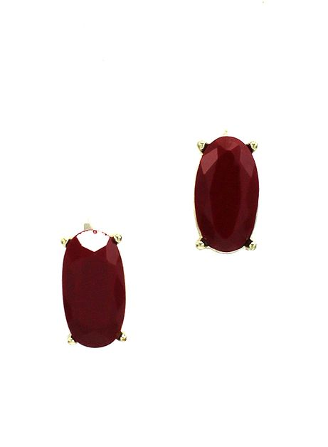 Burgundy Earring - orangeshine.com