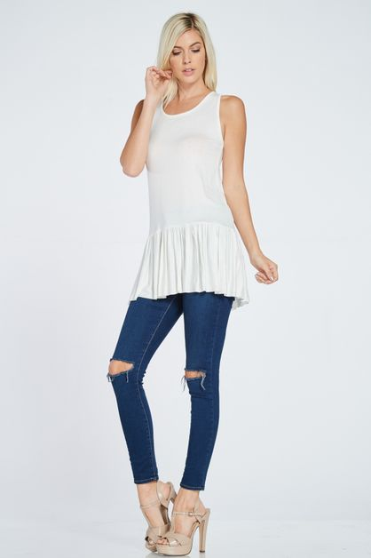 FRILLED BOTTOM MINI TUNIC - orangeshine.com