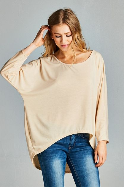 Round Neck Loosefit Top - orangeshine.com