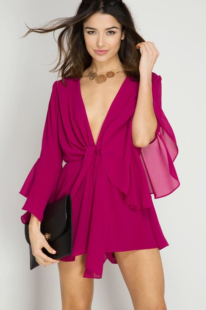 SL4313 - LONG SLEEVE ROMPER - orangeshine.com