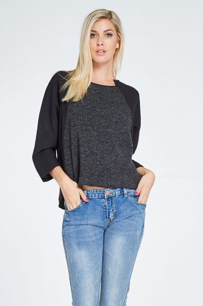 RAGLAN DUO-FABRIC TOP - orangeshine.com