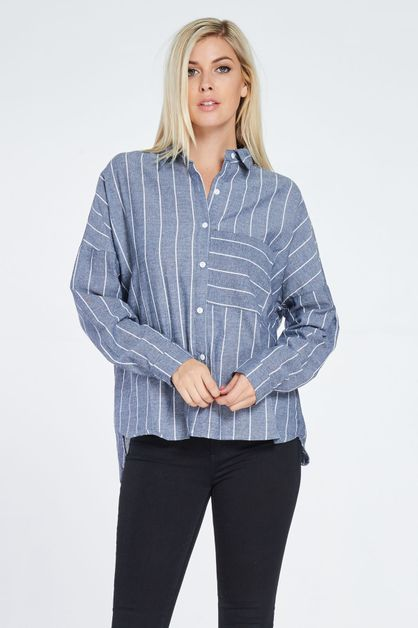 STRIPY POCKET SHIRT - orangeshine.com