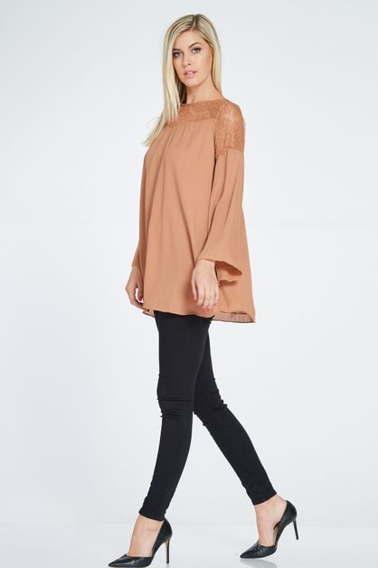 LACE DETAIL TUNIC BLOUSE - orangeshine.com