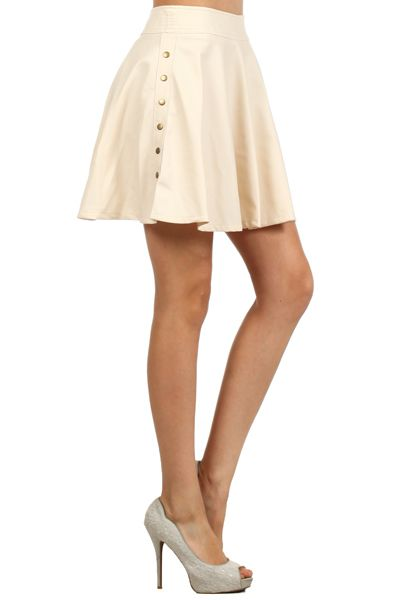 SKATER CUT SKIRT SOLID COLOR - orangeshine.com