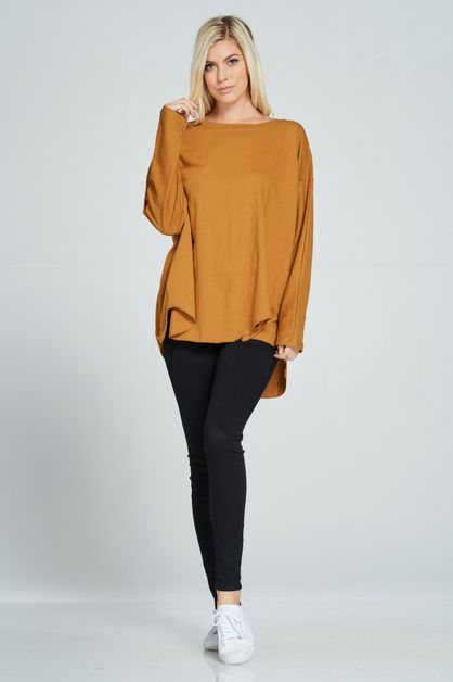 OVERSIZE BOAT NECK TOP - orangeshine.com