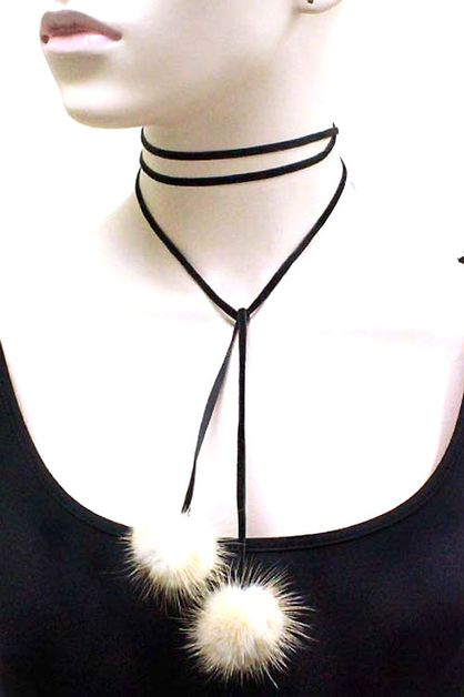 VELVET CHOKER NECKLACE SET - orangeshine.com