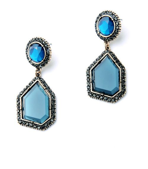 Blue Stud Earring - orangeshine.com