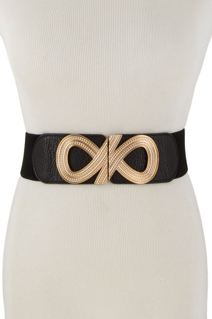 GOLD INFINITY WIDE BELT - orangeshine.com
