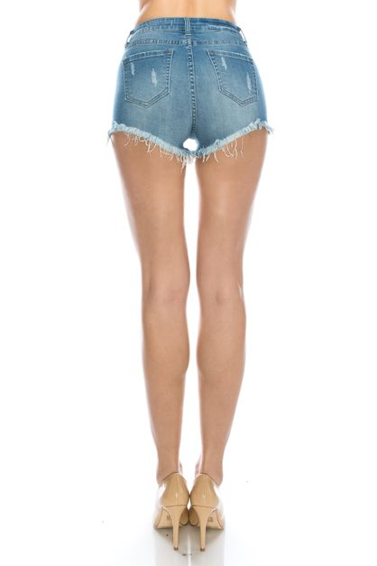 HIGH RISE FRAY SHORTS - orangeshine.com