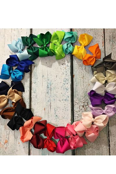 6 Inch Children Hair Bow Alligator - orangeshine.com