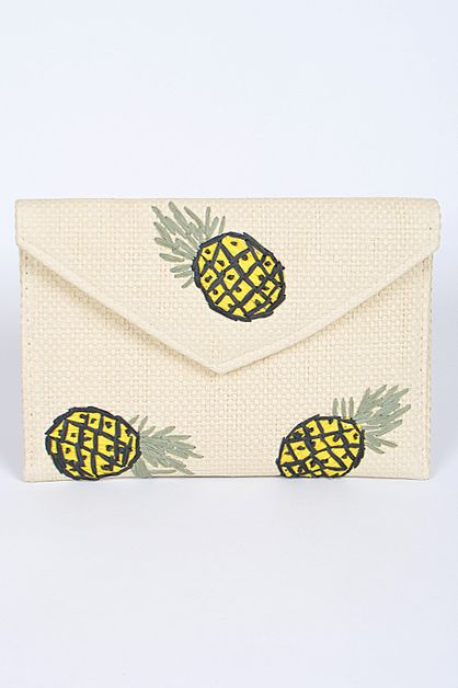 Envelop Clutch With Pineapple Detail - orangeshine.com