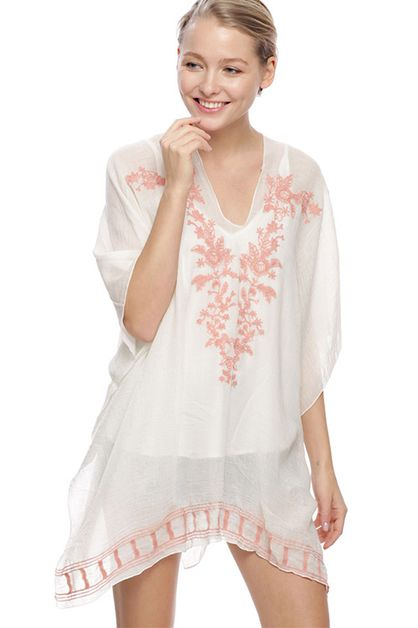 Embroidery Cover up with Tassel - orangeshine.com