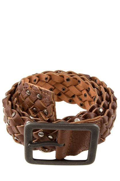 Metal studded braided faux leather  - orangeshine.com