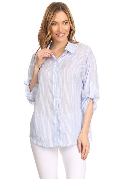 Stripe Shirt - orangeshine.com