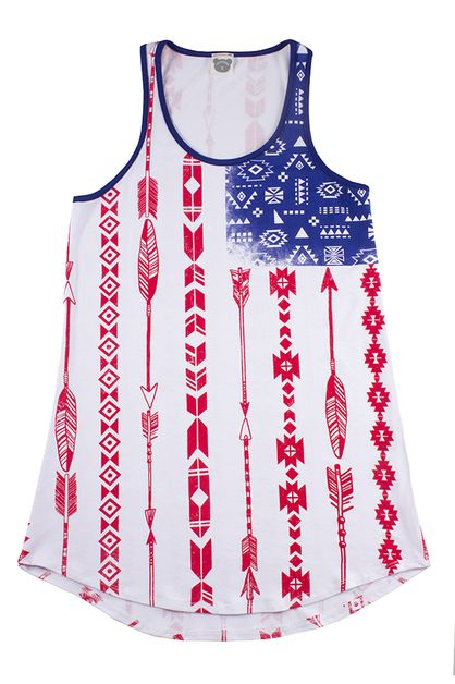 4th of July Flag Tank Top - orangeshine.com