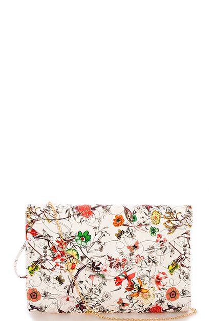 Fashion Blossom Envelope Clutch - orangeshine.com